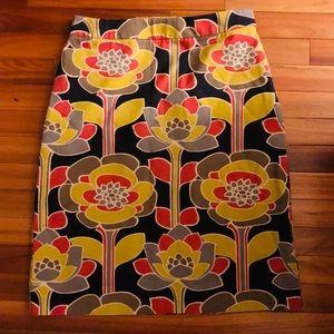Stunning NWOT Boden Bold Print Skirt